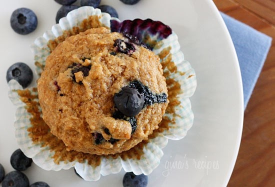 "Whole Wheat Blueberry Muffins. Can be made with ""clean"" ingredients..."