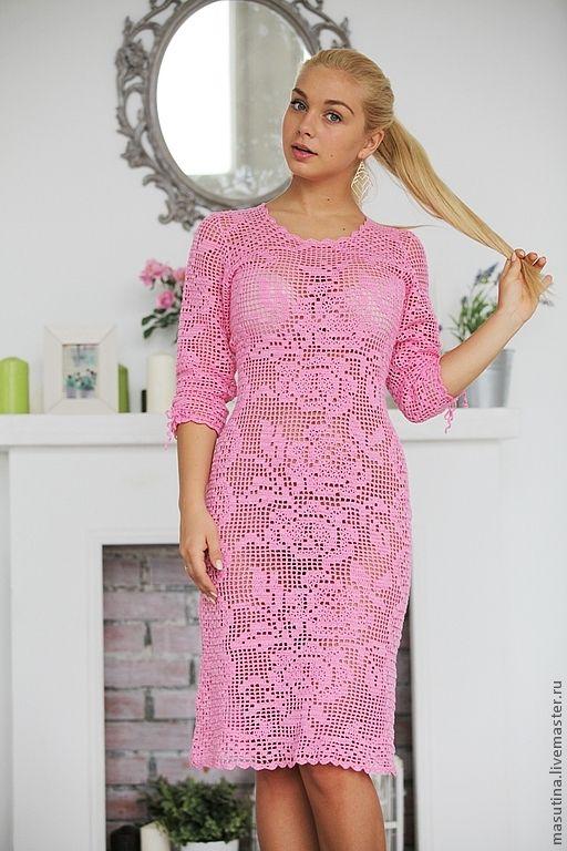 Филейное вязание крючком платьев