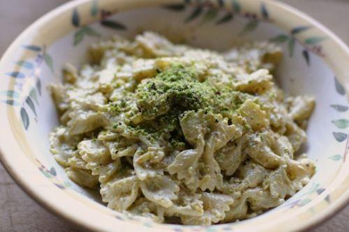 Farfalle with Pistachio Cream Sauce. | Cool Foods | Pinterest