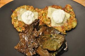 kohlrabi cakes and kohlrabi greens chips | CSA Recipes | Pinterest