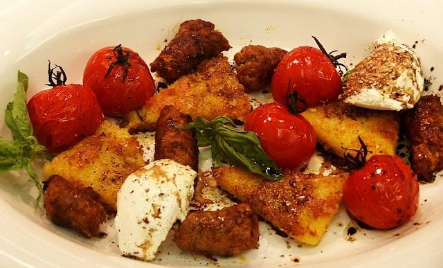 Polenta, Mozzarella and Tomato Salad | Recipes To Try | Pinterest
