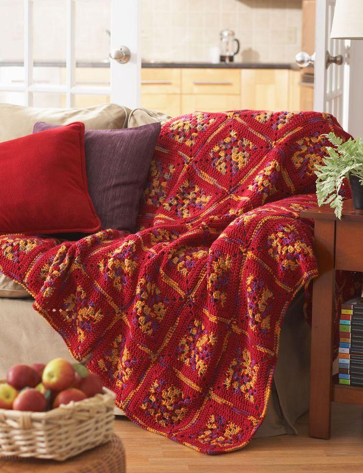 Crochet Afghan Pattern Variegated Yarn : Pin by Cheryl Heator on Crochet-Afghans Pinterest