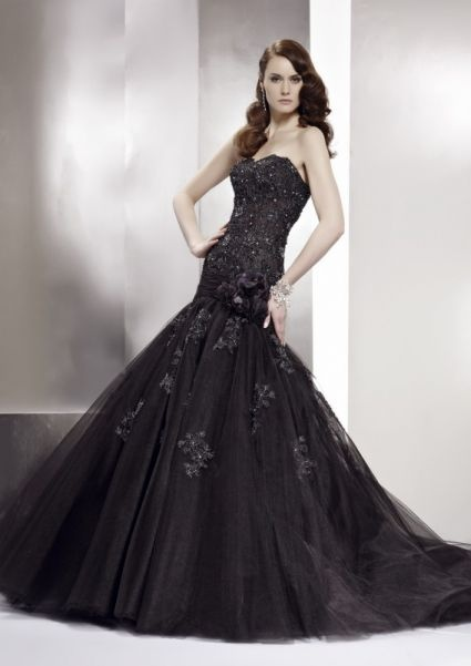 black mermaid wedding dress ball gowns pinterest