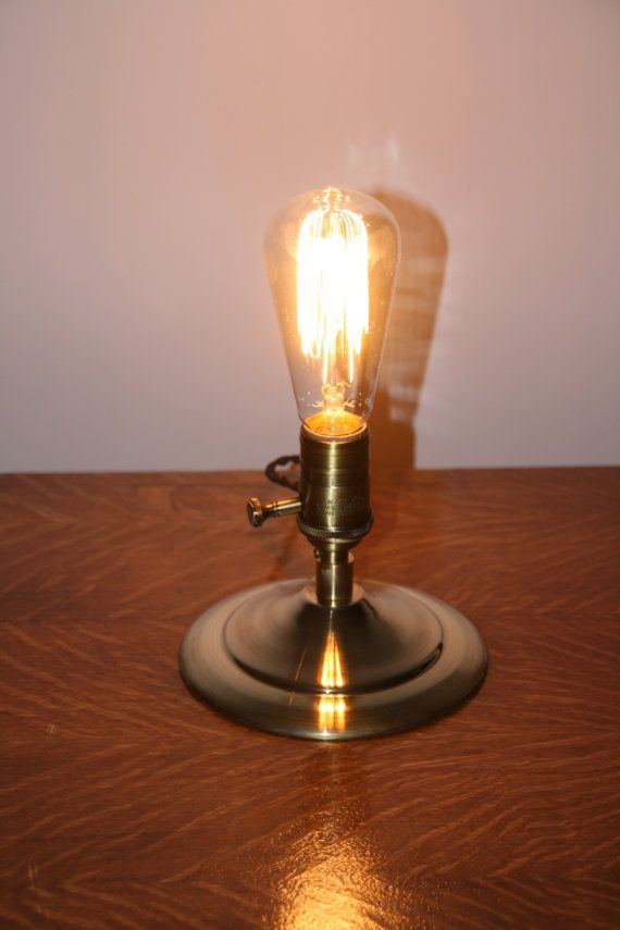 edison bulb table lamp minimalist style by industrialrewind. Black Bedroom Furniture Sets. Home Design Ideas