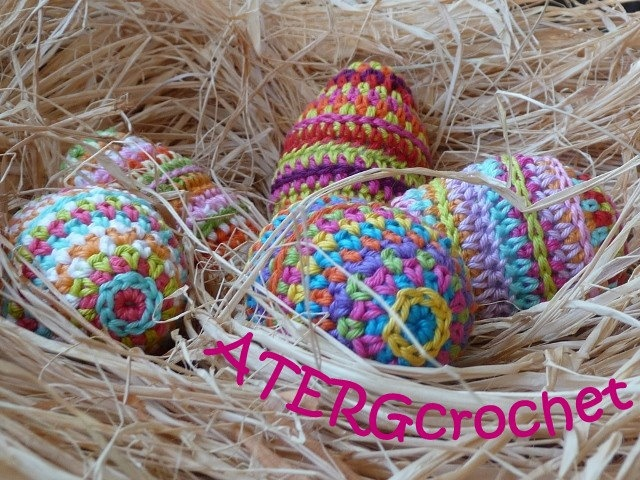 Crochet pattern Easter egg by ATERGcrochet. ?2,65, via Etsy.