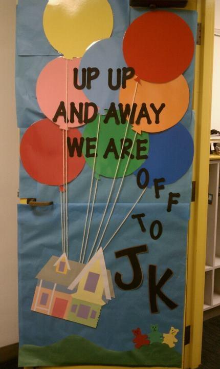 Up Classroom Decor : Up themed door decoration kindergarten classroom