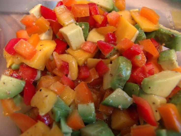 Mango & Avocado Salsa | Salsa's | Pinterest