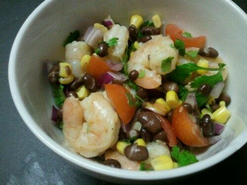 Shrimp And Black Bean Salad Recipe — Dishmaps