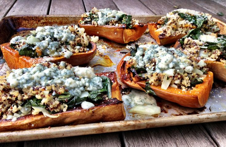 Twice Baked Butternut Squash (with Quinoa And Gorgonzola) Recipes ...