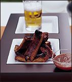 Cider-Basted Baby Back Ribs with Lemon Barbecue Sauce | Recipe