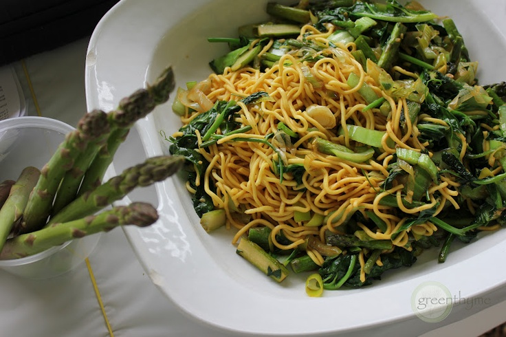 More like this: spring vegetables , lo mein and asparagus .