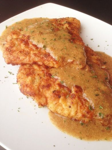 Paleo Breaded Pork Chops With Creamy Mustard Sauce