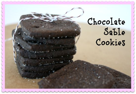 Chocolate Sable Cookies | desserts | Pinterest