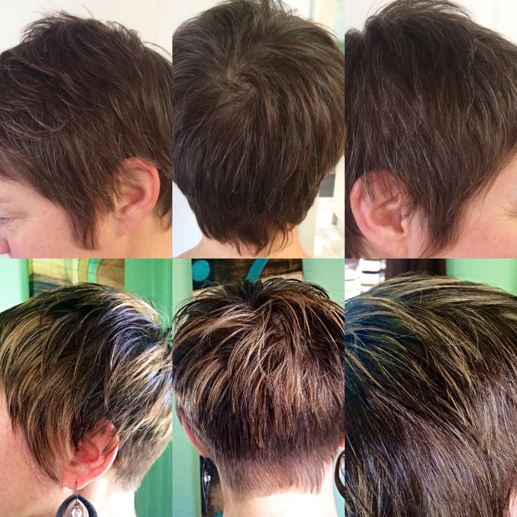 Before & After pixie cut with highlights | hairstyles | Pinterest