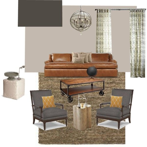 Pp grey cognac palette home decor pinterest Grey home decor pinterest