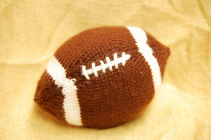 knit football toy Knitting Pinterest