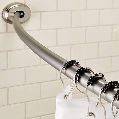 Curved Shower Curtain Rod To Make A House A Home Pinterest