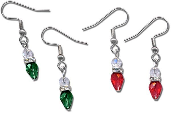 Holiday Lights Earrings | ♥♥JEWELLERY NOVELTY♥♥ | Pinterest