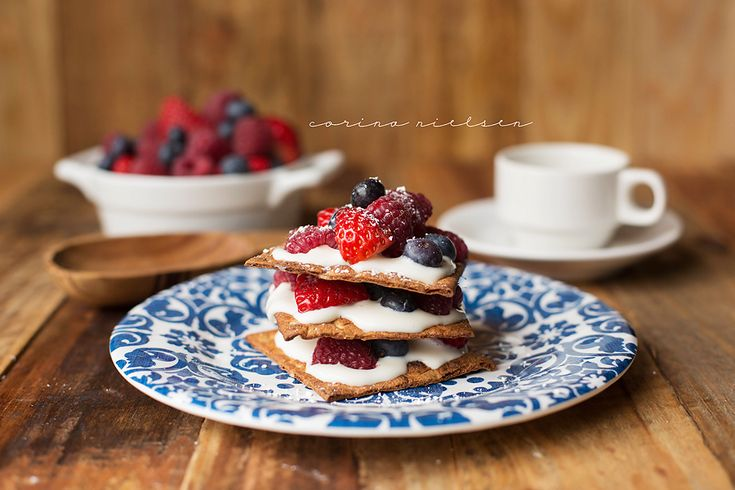 Mixed Berry Protein Napoleons | desserts + sweets. | Pinterest