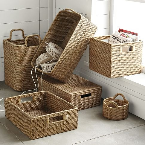 cube baskets for ikea bookshelf