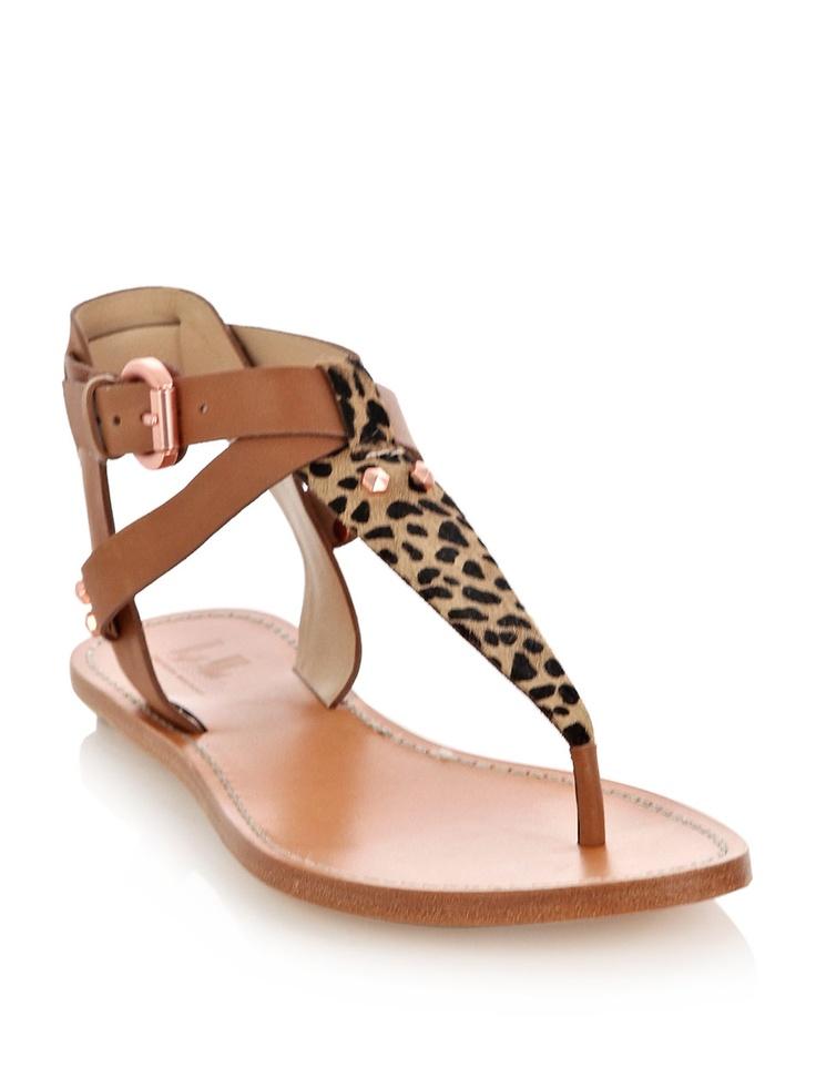 "Stacy Keibler's Belle by Sigerson Morrison ""Randy"" leopard sandals"