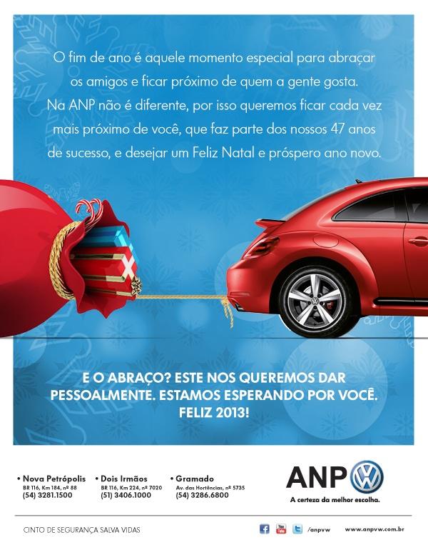 Fim de ano ANP Volkswagen, a certeza da melhor escolha.