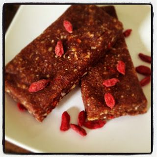 Chewy Chocolate Superfood Energy Bars -- dates, cashews, almonds, chia ...