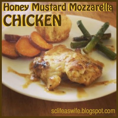 Honey Mustard Mozzarella Chicken | Yummy foods to make | Pinterest