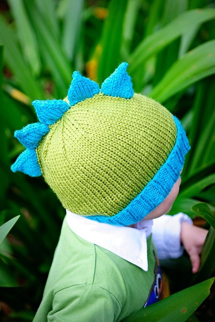 Dinosaur Knit Hat Pattern : Roar, a Dinosaur Hat pattern by Kate Oates