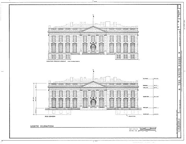 N Elevation Of Home : White house north elevation architettvra pinterest