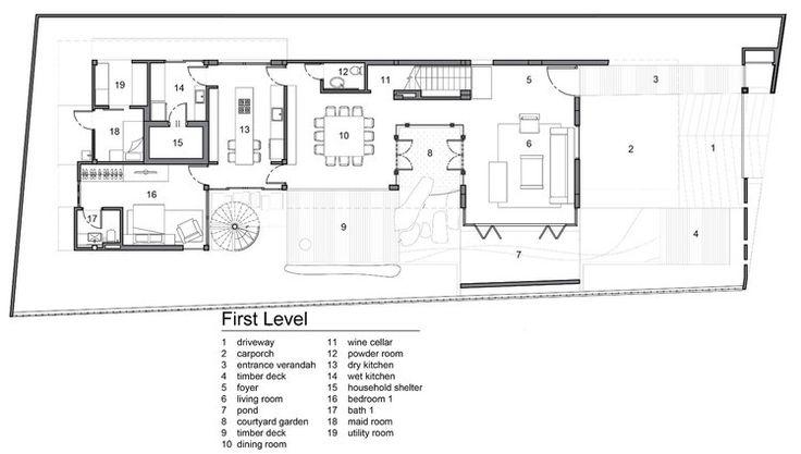 bản thiết kế tầng trệt tòa nhà