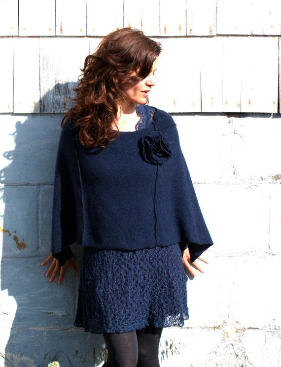 Eco Cashmere Poncho WOMENS CLOTHING Womens by BlumenKinderSeattle, $78
