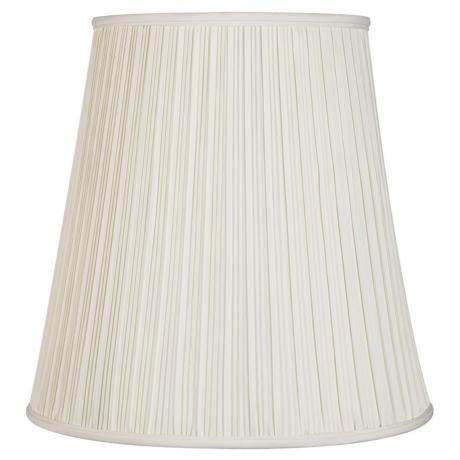 creme mushroom pleat lamp shade 12x18x18 spider k5507 lampsplus. Black Bedroom Furniture Sets. Home Design Ideas