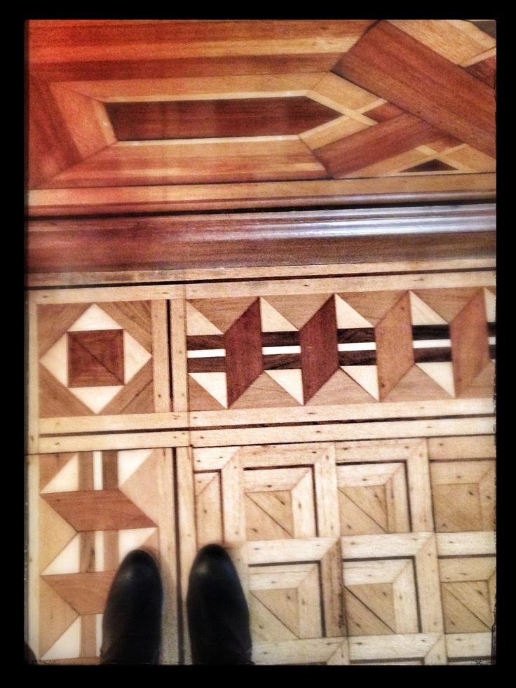 Parquet Floor with Hardwood Border Inlays - Savannah ,GA