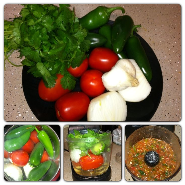 No canned ingredients! Fresh salsa recipe. 4-5 Roma tomatoes, 4-5 ...