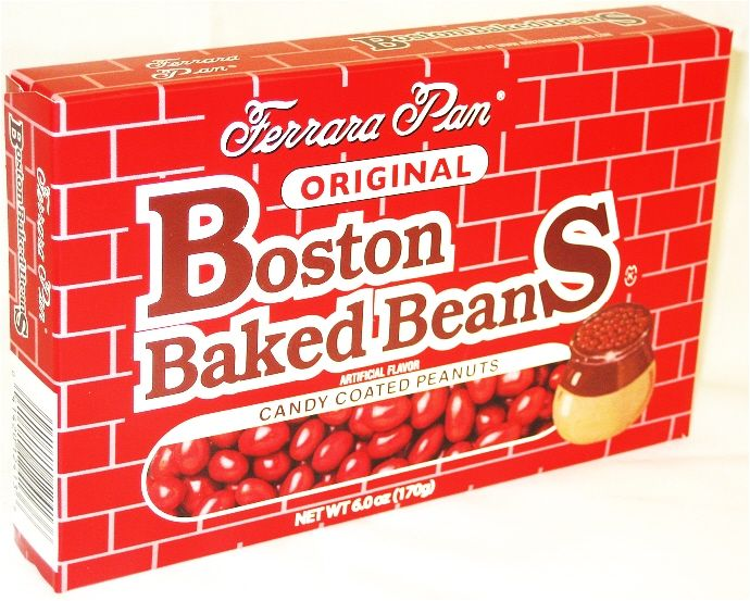 ... 1950's candy buffet ...Boston Baked Beans Theatre Size Boxes 12ct