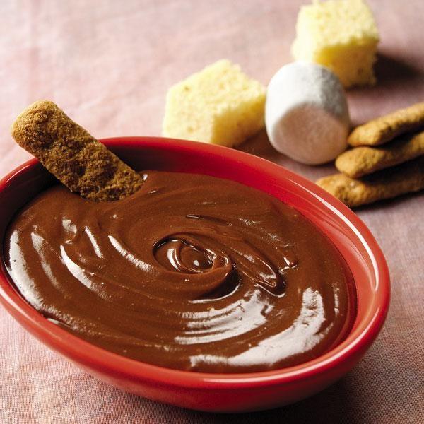 Chocolate Peanut Butter Fondue | Desserts | Pinterest