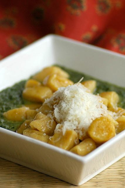 Butternut squash gnocchi. (Use pomegranate juice in place of wine, and ...