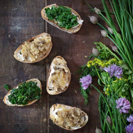 Morel & Wild Herb Crostini: A farewell to spring.
