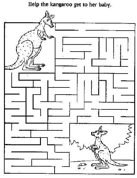 Kangaroo Maze Australia Pinterest Kids Free Printable