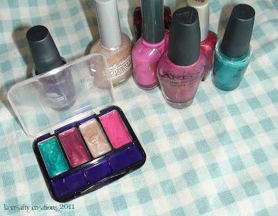 Love it!  Use nailpolish as pretend makeup.
