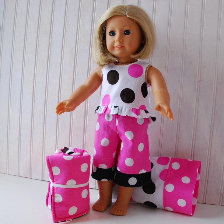 Free Crochet Pattern For American Girl Sleeping Bag : kit standing