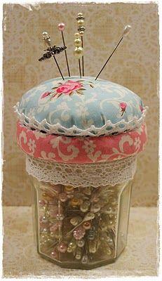 Pincushion on a jar