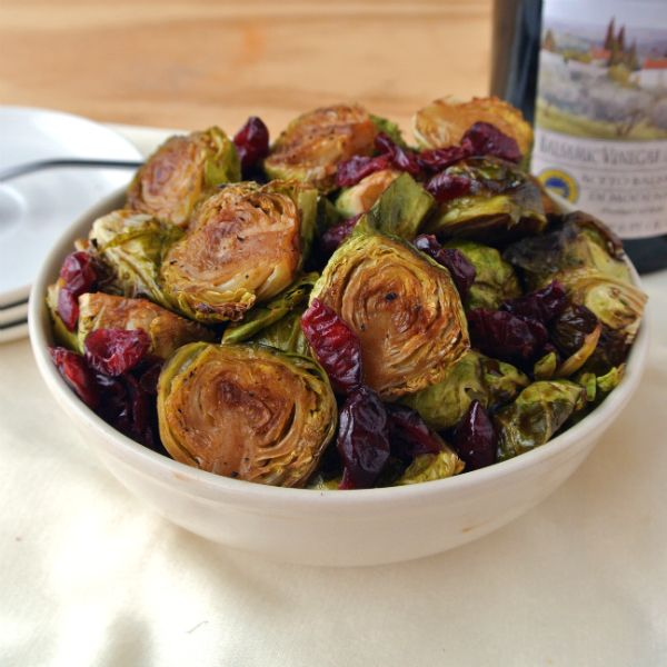 Pioneer Woman's Brussels Sprouts with Balsamic and Cranberries