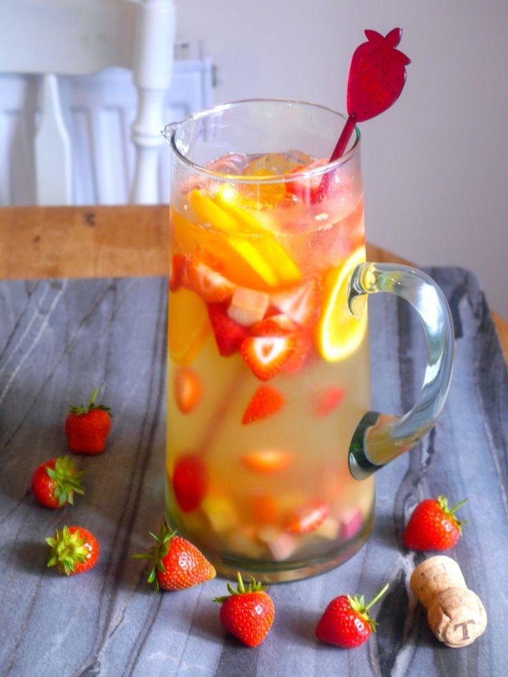 Strawberry Rhubarb Sangria | Recipe