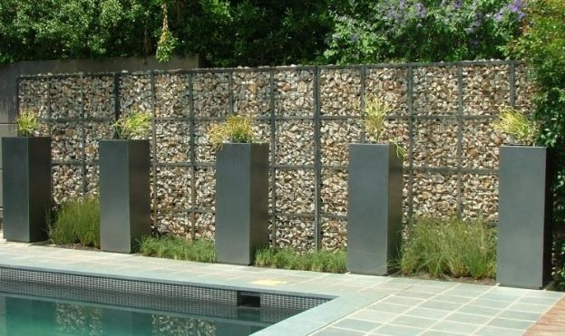Gabion feature wall gabion designs pinterest Gabion wall design
