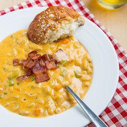 ... & Mac n Cheese.... 2 of my favorite things!! Beer Mac n Cheese Soup