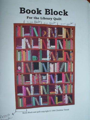 Book Block For The Library Quilt Pattern By Christine Thresh Patterns