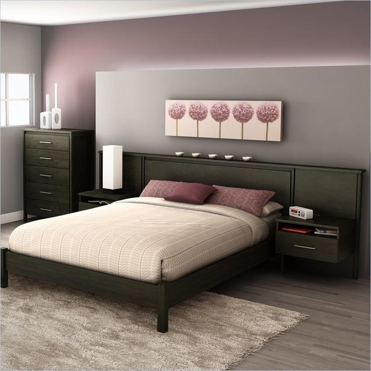 Ikea Schreibtisch Kombination ~   Shore Gravity Queen Platform Bed & Headboard Nightstand Kit Bed