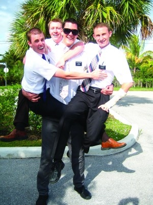 """The Cultural Hall: Articles of News 07.17.2012 Mormon athletes must weigh taking a different path. """"At 7-feet, 2-inches, Jordan Bachynski, center, was a giant among his fellow Mormon missionaries during their mission in the Miami, Fla. area."""" -TheCulturalHall.com"""